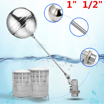 """1""""  1/2"""" Bsp Float Valve Stainless Steel Automatic Water Trough Cattle Bowl Tank"""
