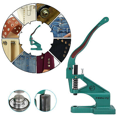 Green Hand Press Machine for Fixing Studs Eyelets Rivet Poppers in Leather Craft