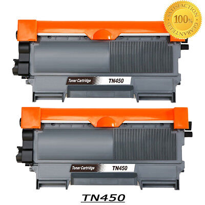2PK TN450 Toner Cartridge for Brother MFC-7360N DCP-7065DN 7060D HL-2132 2242D