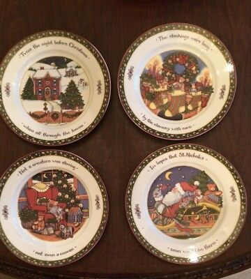 SUSAN WINGET A CHRISTMAS STORY Series 1 - 4 Dinner Plates ...