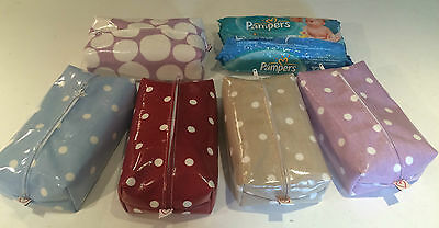 Zipped Baby Wipes Covers Made In Pretty Oil Cloth Designs - Cath Kidston & More
