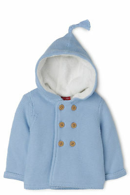 SPROUT Double Breasted Cardi Light Blue size 0 New NWT baby boy jacket with hood
