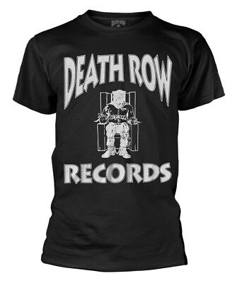 Death Row Records 'Logo' (Black) T-Shirt - NEW & OFFICIAL!