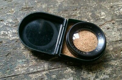 Carl Ziess Jena Distar 1,5 / II push on camera filter with cork lined case