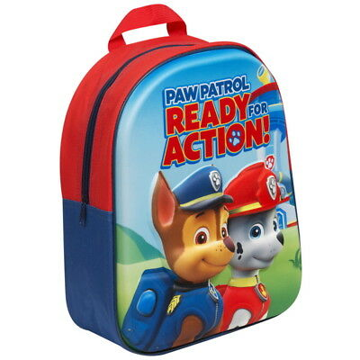 NEW OFFICIAL Paw Patrol Chase and Marshall Kids 3D Backpack Rucksack School Bag