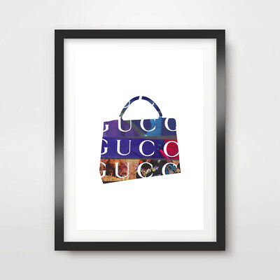HANDBAG BRAND NAMES FASHION ART PRINT POSTER Designer Style HIgh End Decor Wall