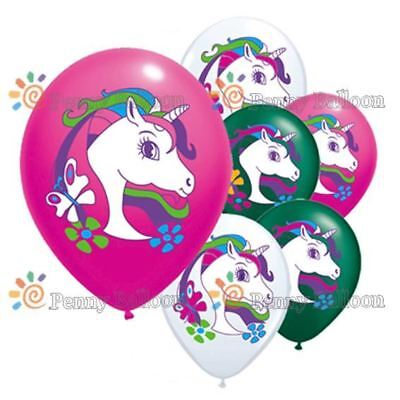 UNICORN BALLOONS Party Decorations Unicorn Printed Balloons 5pack