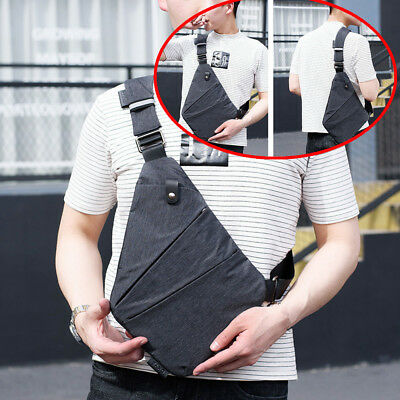 Sport Anti-theft Men Sling Bags Shoulder Strap Bag Messenger Chest Cool Bag Hot