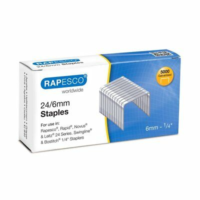 Rapesco Staples - 24/6mm. Box of 5,000