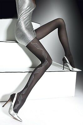 FIORE Tessa Luxury Super Fine 40 Denier Microfibre Metallic Patterned Tights