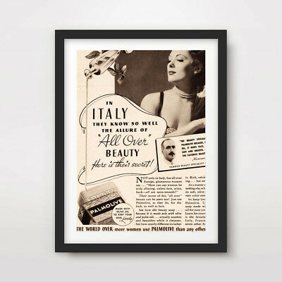 1940s VINTAGE FASHION ILLUSTRATION ART PRINT POSTER Wall Advertising Decor Sign