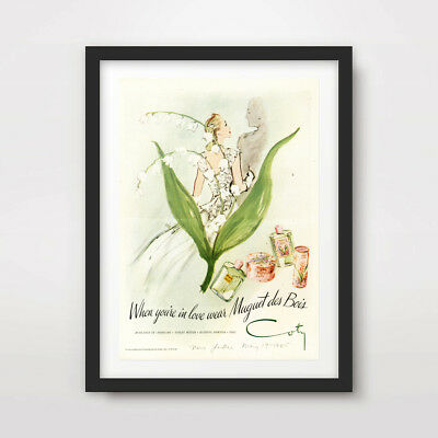 VINTAGE FASHION ILLUSTRATION ART PRINT POSTER Wall Picture Hand Painted Interior