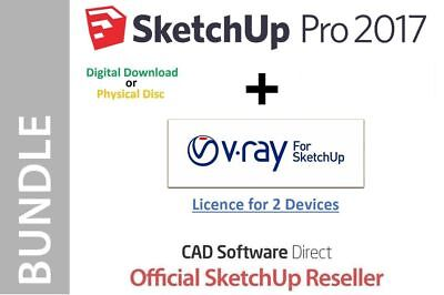 SKETCHUP PRO 2017 - 2018 + VRAY 3 4 - Full Version + Serial Number
