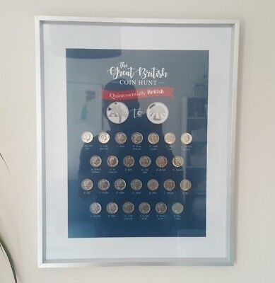 Great British Coin Hunt 10p Album Wall art for complete collection