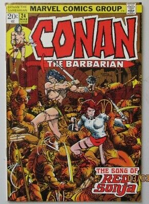 Conan The Barbarian #24 1973 Marvel Comics First Red Sonja Very Fine Vf 8.0