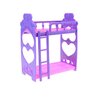 MiniPlastic bed for barbie doll kelly doll play house accessory gift for girl JD