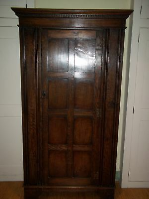1920s solid oak hall cupboard/wardrobe