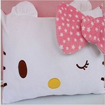 Pink Hello Kitty Face Soft Pillowcase