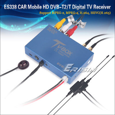 338GD Auto Mobile Digital HDTV DVB-T2 Receiver HEVC H.265 H.264 HDMI USB 160km/h