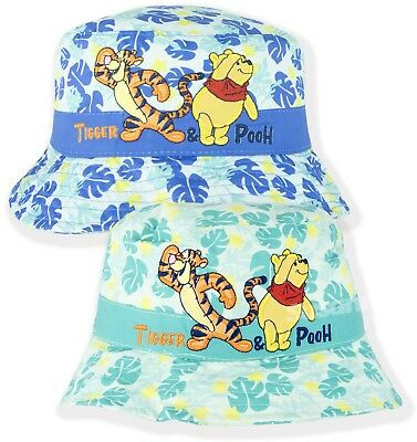 Disney Winnie The Pooh Baby Boys Bucket Hat Summer Sun Hats 0-3 Years NEW 2018