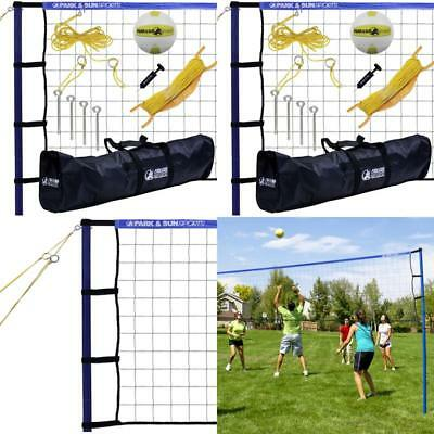 ;Volleyball Net Set Portable Court System Equipment Outdoor Beach Backyard Play
