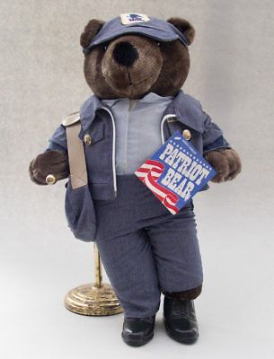 Postal Bear Mail Carrier Us Post Office Patriot 1986