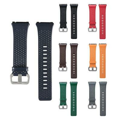 Replacement Leather Watch Band Bracelet Wristband Strap S L for Fitbit Ionic
