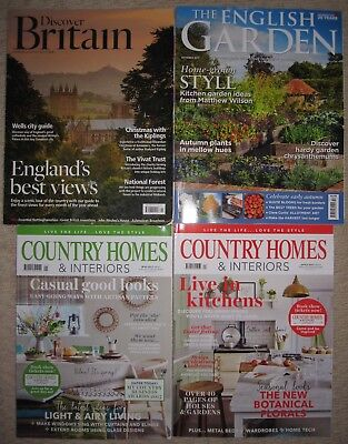 Job Lot Bundle Country Homes and Interiors Discover Britain Gardening Magazines