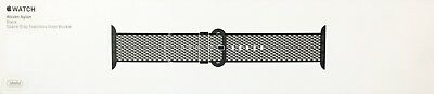 Genuine Apple Woven Nylon for Apple Watch 38mm - Black Check w/Space Gray Buckle