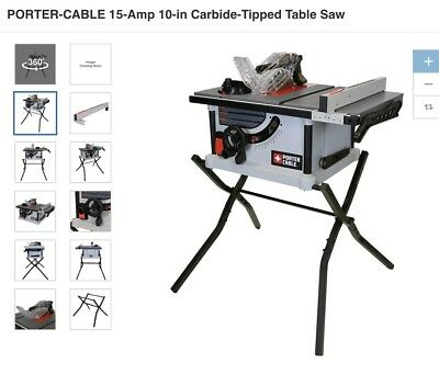 Porter cable pcx362010 15 amp 10 in carbide tipped table saw porter cable 15 amp 10 in carbide tipped table saw greentooth Gallery
