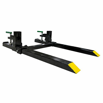 "30"" LW Clamp on Pallet Forks w/ Adjustable Stabilizer Bar 1500lb Capacity - USED"