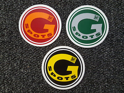 Rare vintage blockhead g spots skateboard wheels stickers lot 3 pieces 80s 90s