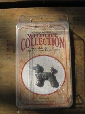 Fine Pewter Wearable Art Pin /Poodle