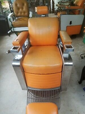 vintage koken barber chair from the 1950s-early 60s............#2