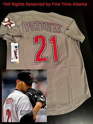 c0a714d6d Andy Pettitte Houston Astros Men s 2002-2012 Gray   Road Throwback Jersey  Biggio