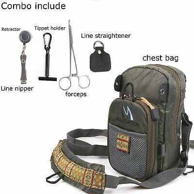 Fishing Pack Adjustable Chest Pack Bag Multi-purpose Outdoor Sports Vest Bag#
