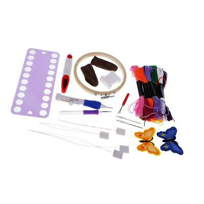 Embroidery Pen Starter Kit Stitching Punch Needle Threads Set for DIY Sewing