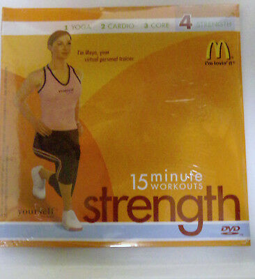 15 MINUTE WORKOUT STRENGTH McDONALD's DVD YOURSELF FITNESS UNOPENED BRAND  NEW