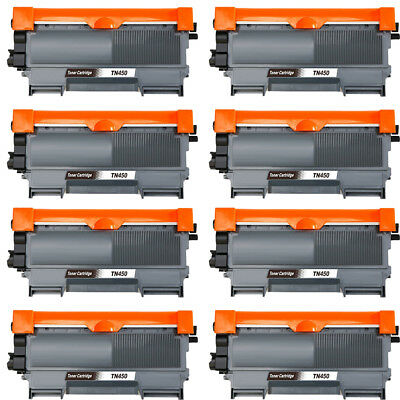 8pk TN450 Toner Cartridge for Brother MFC-7360N DCP-7065DN 7060D HL-2132 2242D