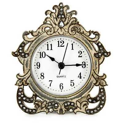 Antique Look Gray Decorative Table Clock.Gorgeous  Home Decor . New