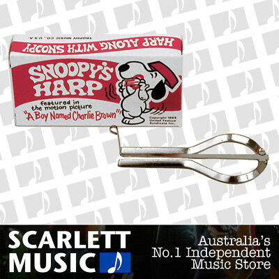 SNOOPY JAW MOUTH HARP Nickel Plated Steel *New* Made In USA Boxed w/Instructions
