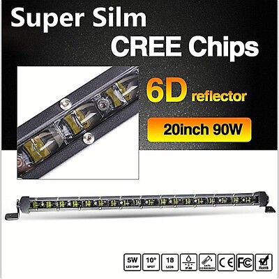 "Universal 90W 20""LED CREE Chip 6D Lens 6000K Car Work Light Single Row Light Bar"
