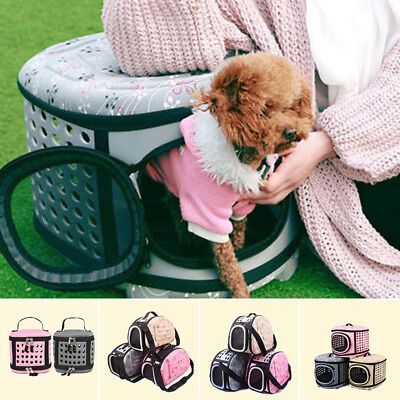 Pet Small Dog Cat Sided Carrier Travel Tote Shoulder Bag Cage Kennel Carriers