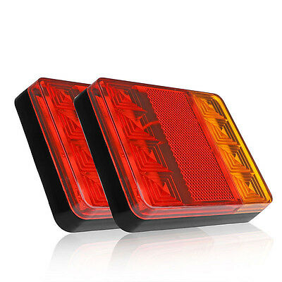 Waterproof Truck Trailer Boat LED Lamp Kit Tail Light Stop Indicator 12V 2pcs
