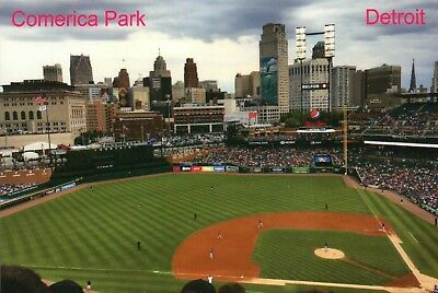 Comerica Park Home of the MLB Detroit Tigers Baseball Stadium Michigan, Postcard