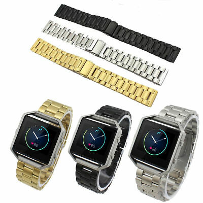 Replacement Watch Band Stainless Metal Wristband  For Fitbit Blaze Tracker