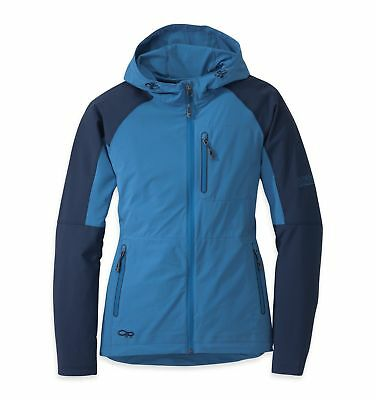 Outdoor Research Ferrosi Hoody, Womens Softshell, Cornflower/Night Blue, XS