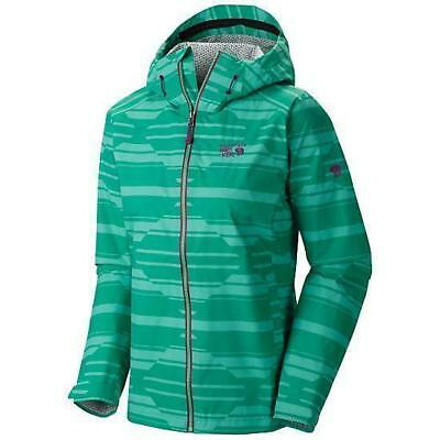 Mountain Hardwear Plasmic Geo Jacket, Womens Waterproof, Green, XS