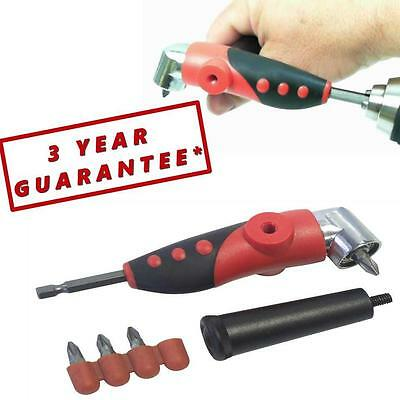 "Angle Driver Attachment For Cordless Drills Screwdrivers 1/4"" Hex Drive   WC17"
