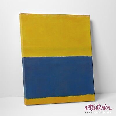 "Mark Rothko ""Blue and Yellow"" Stampa Fine Art HR su tela Canvas Quadro Astratto"